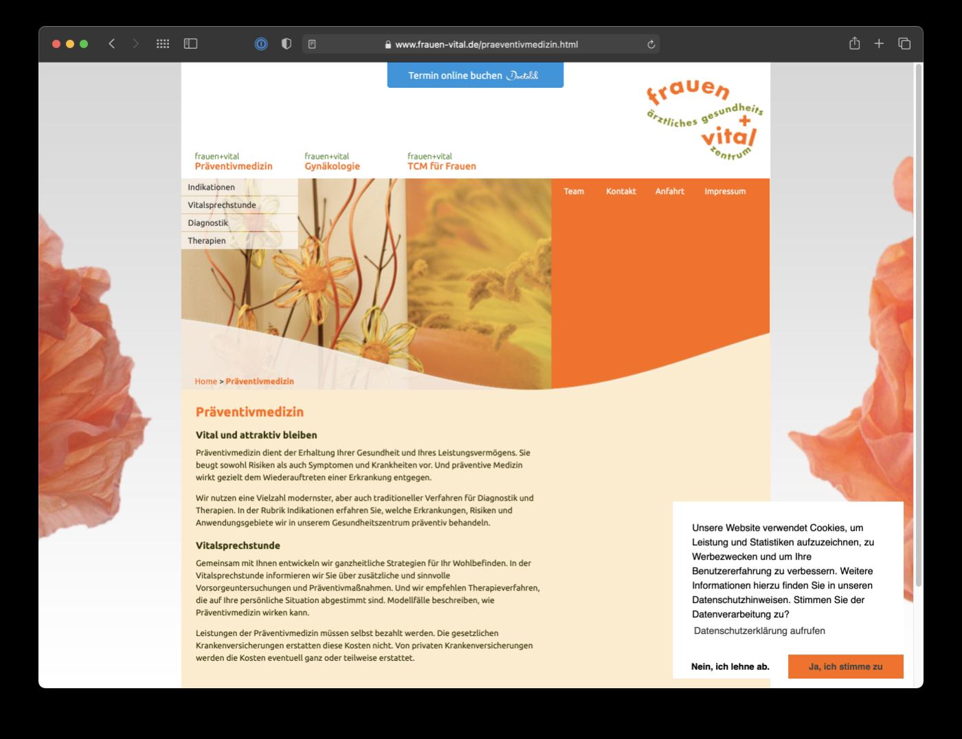 Umsetzung Webdesign Frauen-Vital