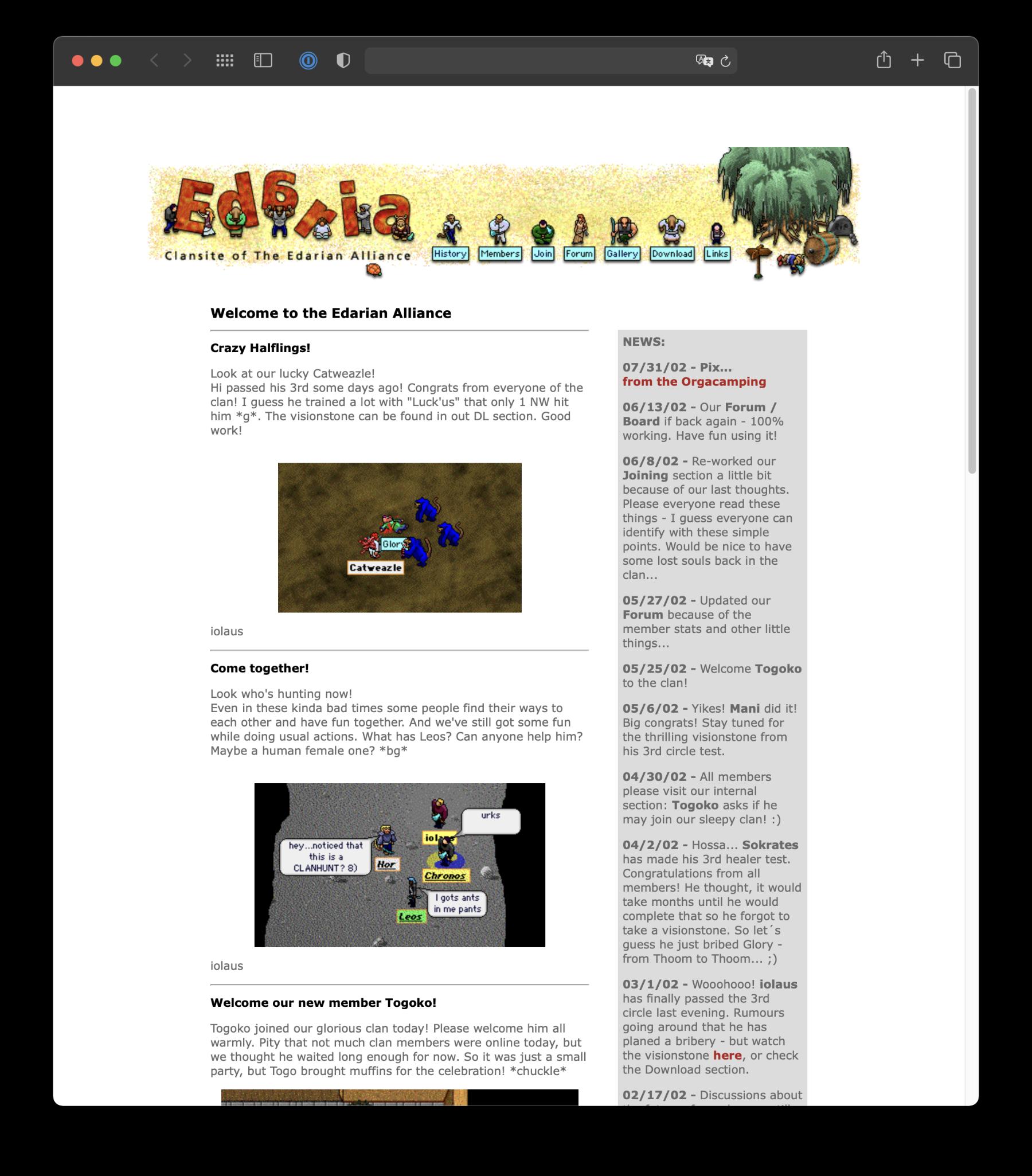 Webdesign Gamer-Plattform
