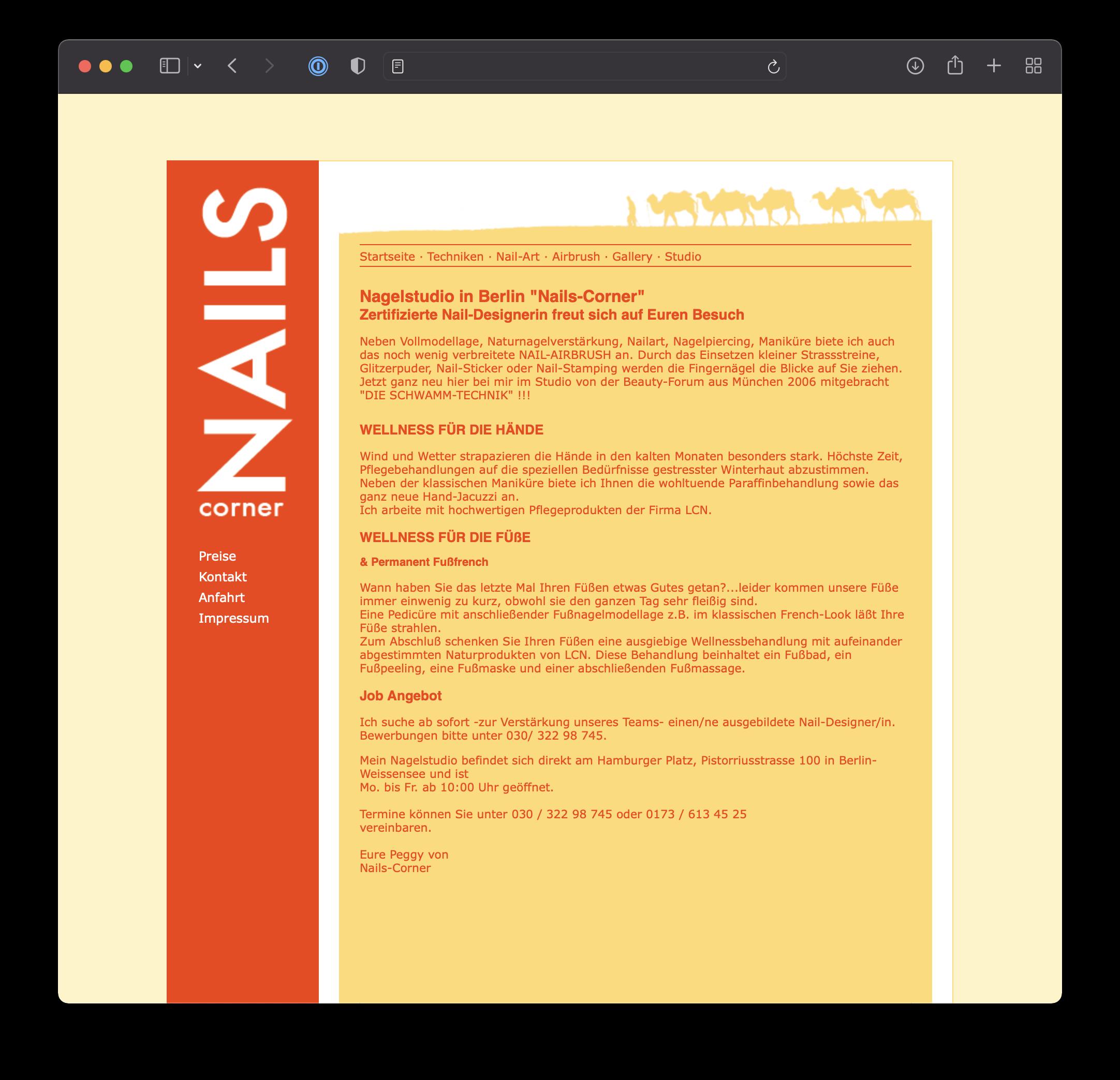 Webdesign & CI - NailsCorner
