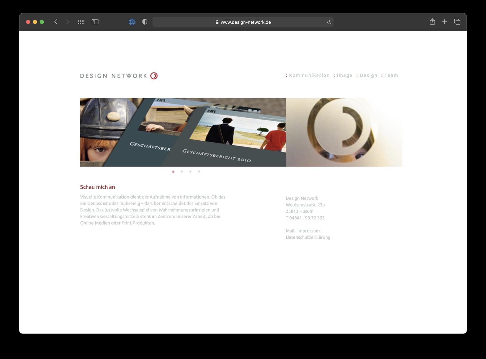 Umsetzung Webdesign