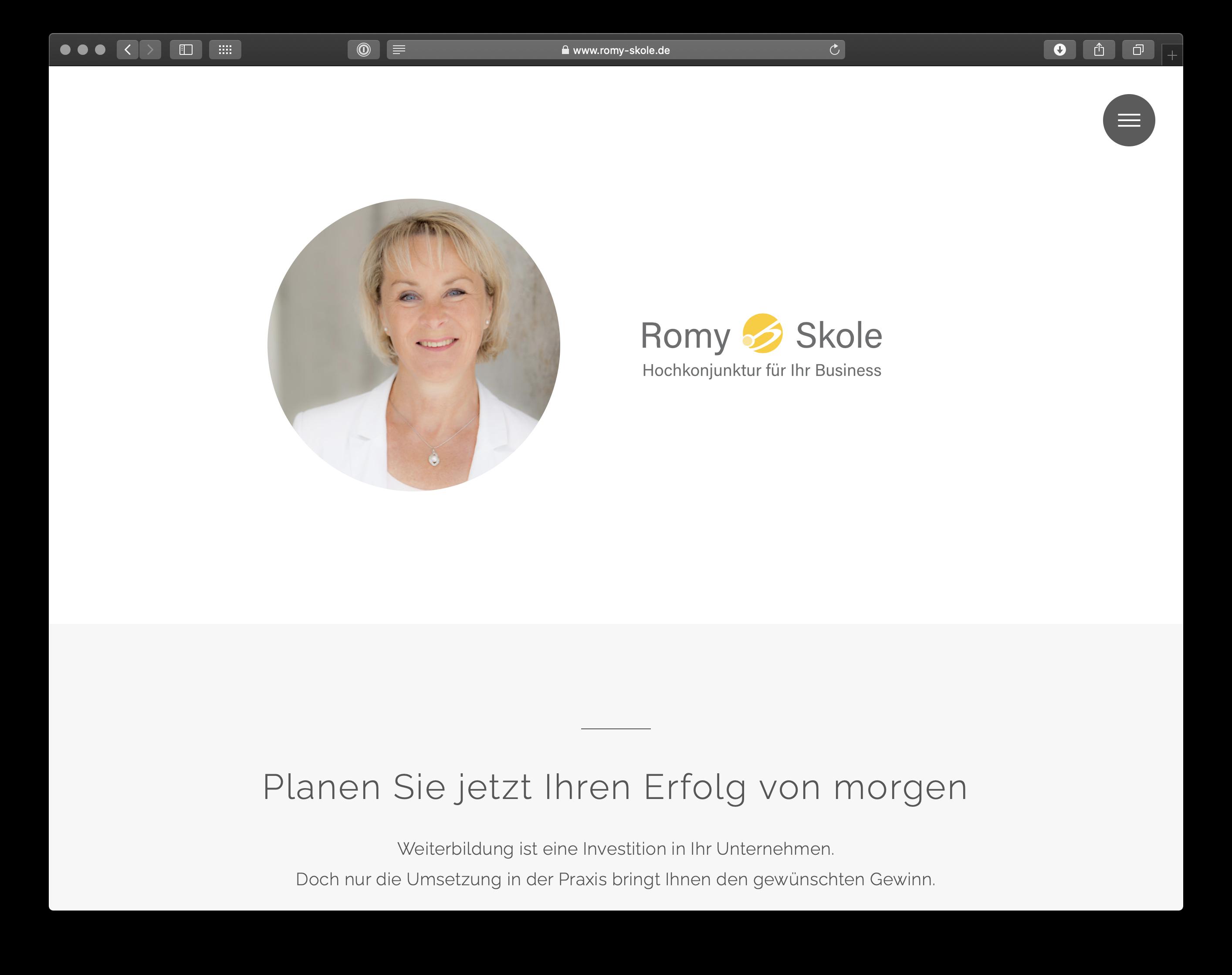 Umsetzung Webdesign Romy Skole