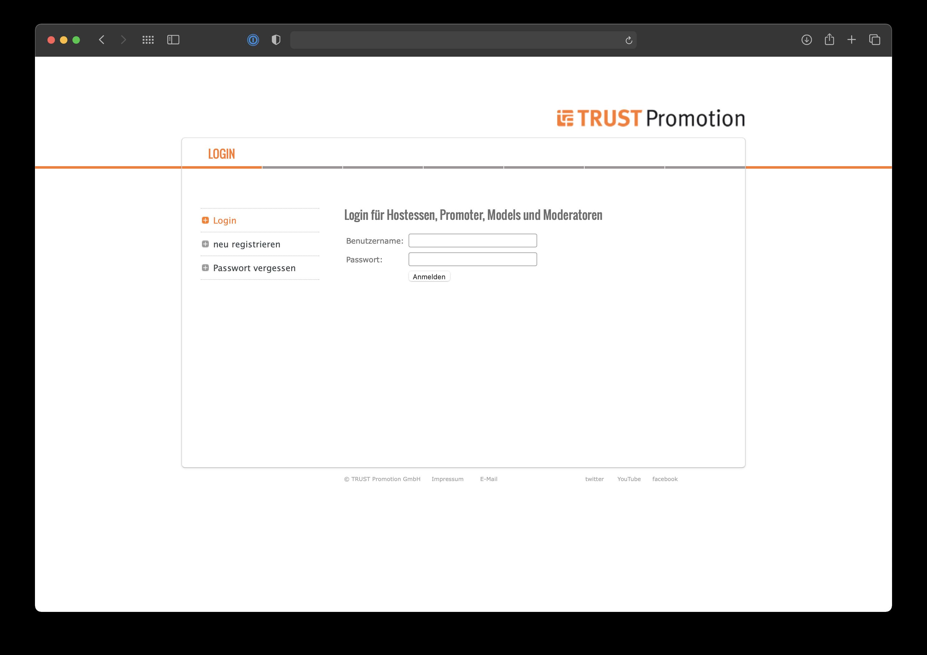 Filemaker Promoter-Datenbank